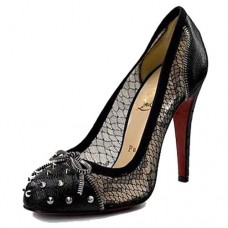 Christian Louboutin Women's Candy Lace 120mm Pumps Black