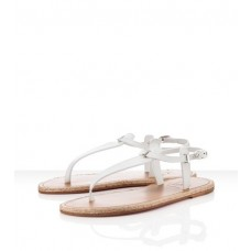 Christian Louboutin Men's Flanana Sandals White