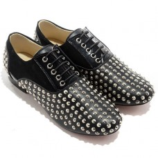 Christian Louboutin Women's Fred Spikes Loafers Black