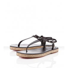 Christian Louboutin Men's Hovercraft Sandals Black