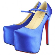 Christian Louboutin Women's Lady Daf 160mm Mary Jane Pumps Blue