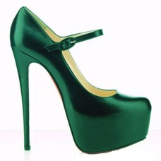 Christian Louboutin Women's Lady Daf 160mm Mary Jane Pumps Green