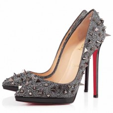 Christian Louboutin Women's Pigalili Plato 140mm Pumps Grey