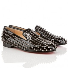 Christian Louboutin Men's Rollerboy Spikes Loafers Black