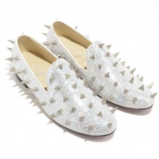 Christian Louboutin Women's Rollergirl Loafers White